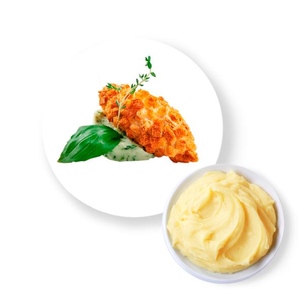 """Котлета """"Пожарских"""" с картофельным пюре и соусом"""