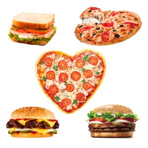 Бургеры и пицца