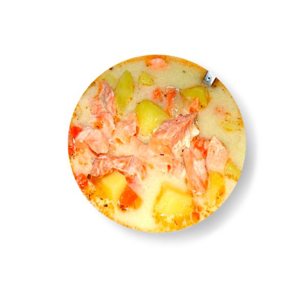 Финский суп с горбушей