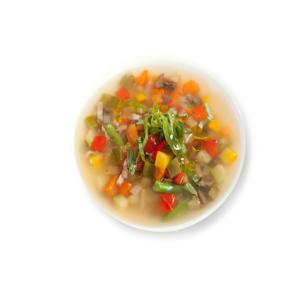 Суп минестроне овощной с грибами